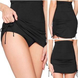 NWOT Anne Cole Super High Waist Swim Skirt
